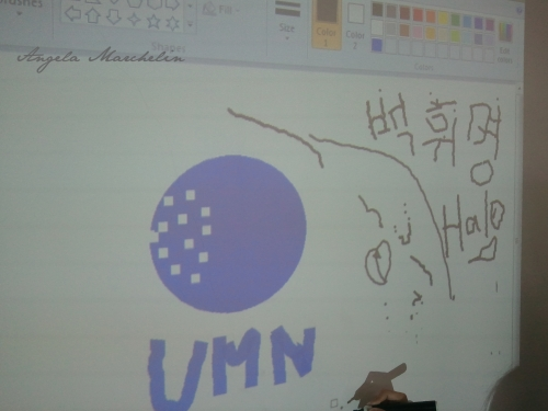 UMN Logo on Interactive Whiteboard